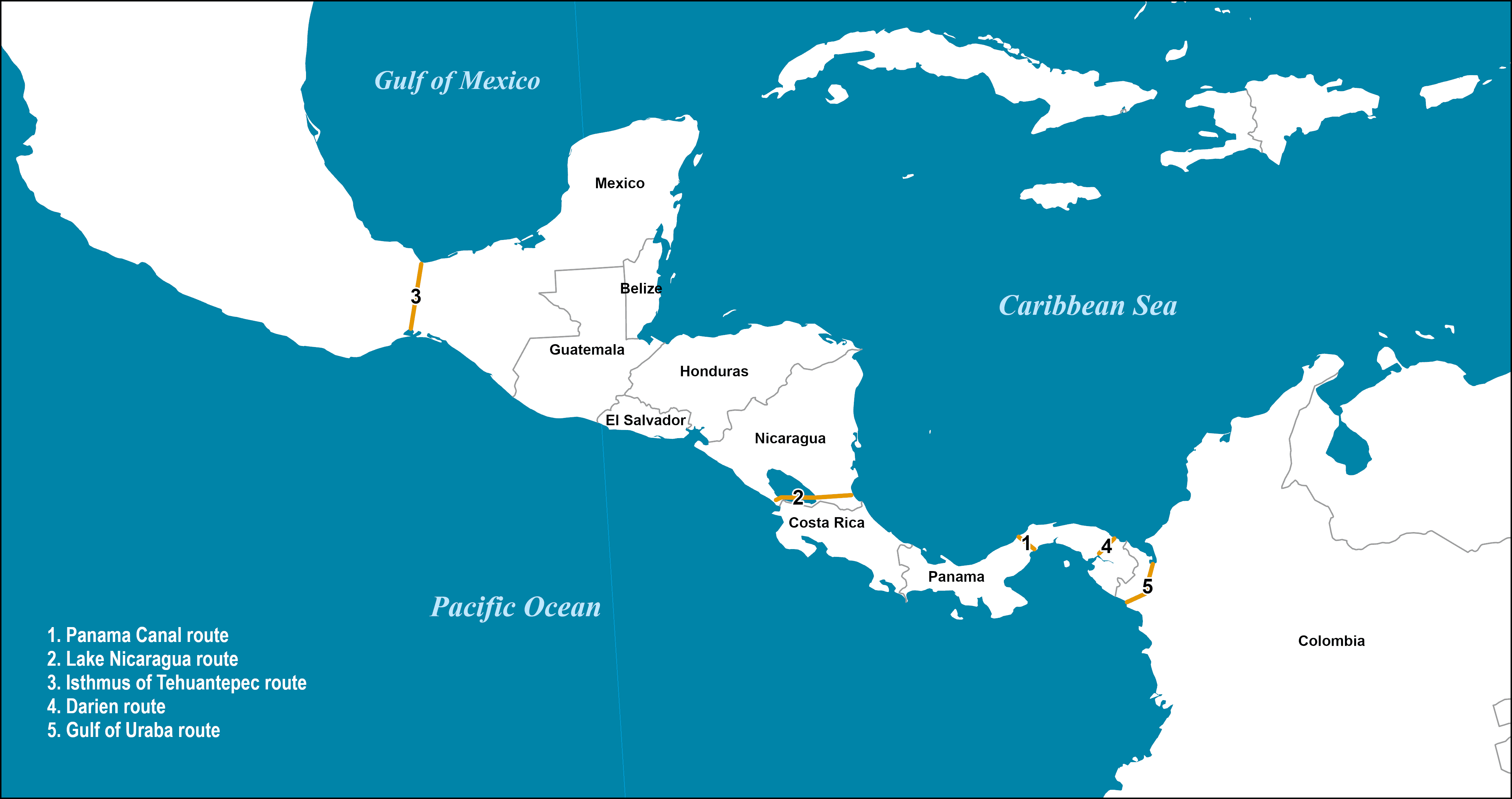 Central American Interoceanic Canal Routes Considered | Port ...